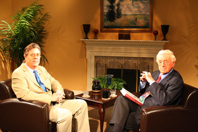 David Maraniss (Left) and John Seigenthaler on the set of A Word on Words.