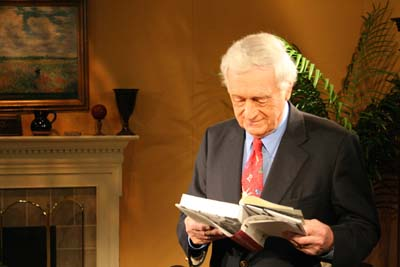 John Seigenthaler gets in some last minute research