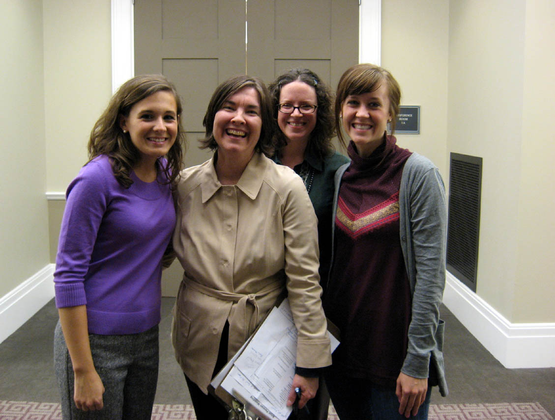 The Ladies of the Library (and some of our favorite people in the world): From left to right, Anna Chatham, NPL PR intern from Belmont University; Deanna Lanrson, NPL Public Information Officer; Crystal Deane, Librarian; and Traci Jones, NPL volunteer.