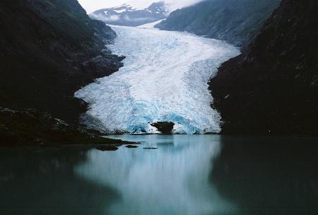 Bear Glacier by Frank Keesee