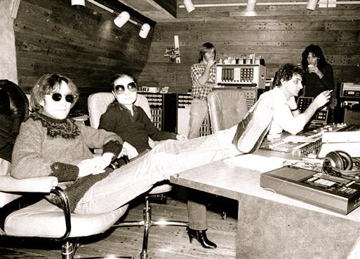 John Lennon and Yoko Ono at the Record Plant.