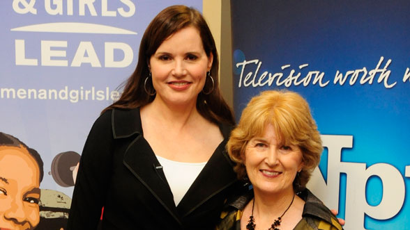 Geena Davis and Beth Curley