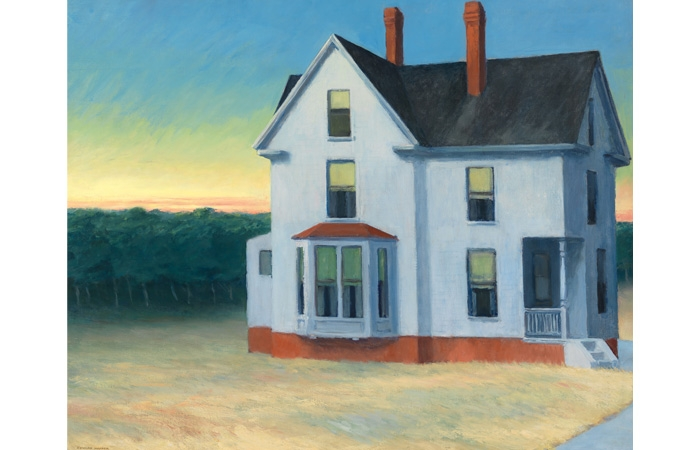 Edward Hopper (1882–1967). Cape Cod Sunset, 1934. Oil on canvas, 29 1/8 x 36 1/4 in. Whitney Museum of American Art, New York; Josephine N. Hopper Bequest 70.1166. © The Heirs of Josephine N. Hopper, Licensed by Whitney Museum of American Art. Digital Image © Whitney Museum of American Art