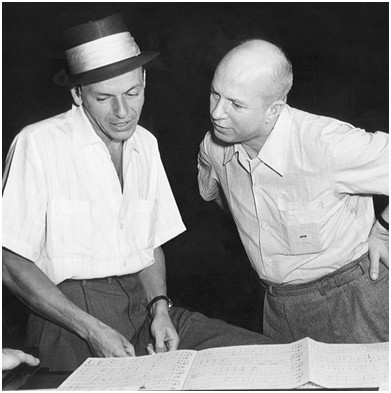 Composer Jimmy Van Heusen, right, with frequent collaborator Frank Sinatra, in the 1950s.