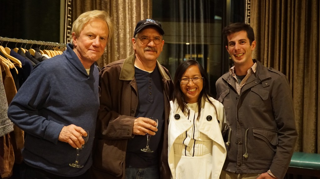 Left to right: Joe Elmore and Ken Simington (Tennessee Crossroads) ; Thuy Rocco (Next Door Neighbors: Storytellers Ha & Thuy) and Mike Rocco