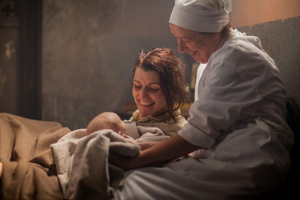 Dolores McEvoy (Siobhan O'Kelly) and Nurse Phyllis Crane (Linda Bassett)