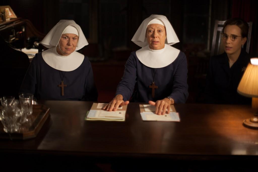 Sister Evangelina (Pam Ferris), Sister Julienne (Jenny Agutter) and Shelagh (Laura Main)