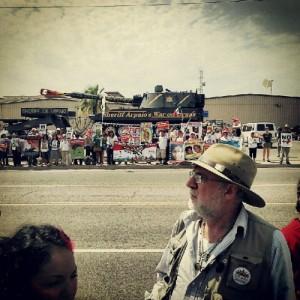 Javier Sicilia in Arizona.   Credit: Courtesy of Loteria Films