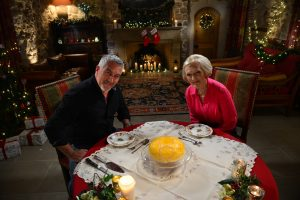 GREAT BRITISH BAKING SHOW judges Paul and Mary Berry. Credit: Courtesy of Andy Devonshire